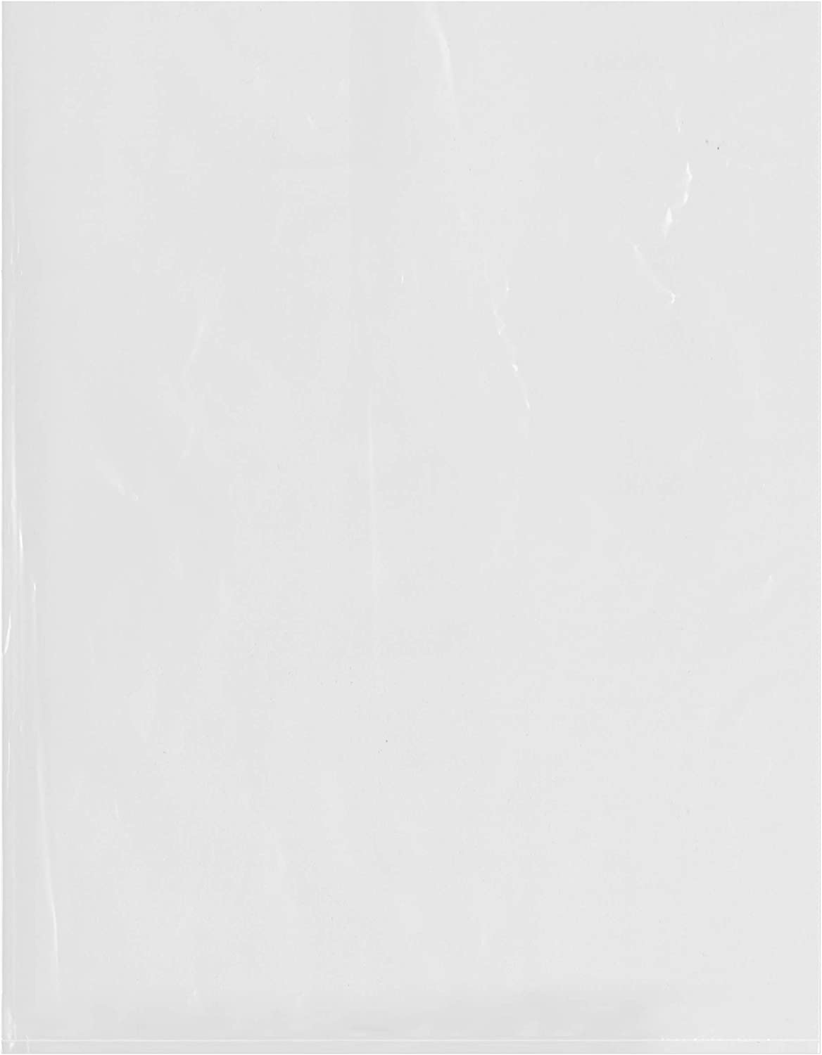 Plymor Flat Open Clear Plastic Poly Bags, 2 Mil, 14
