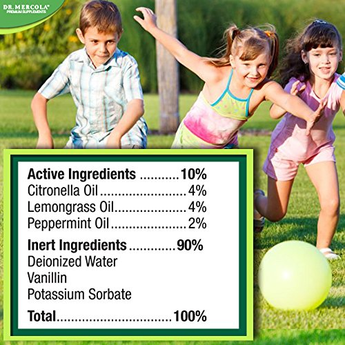 Dr Mercola Bug Spray - 8 Fl Oz Bottle - 100% Deet Free, Uses Essential Oils to Repel Mosquitoes, Fleas, Chiggers, Ticks, and Other Biting Insects, Pleasant Smell, No Harsh Chemicals by Dr. Mercola (Image #3)