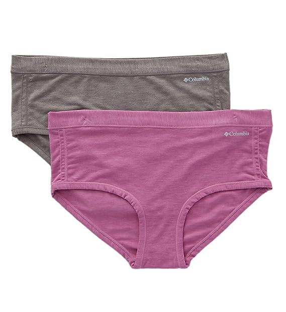 Columbia Ropa interior de ajuste personal para mujeres, paquete de 2 paquetes de ropa interior