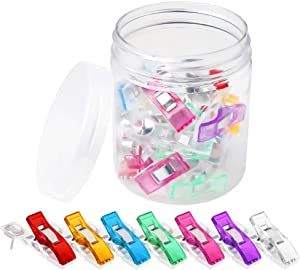 20 Pack Push Pin Clips, Colorful Cubicle Clips Pins Clips Creative Paper Clips with Pins for Cork Board and Photo Wall Pinning No Holes for The Paper