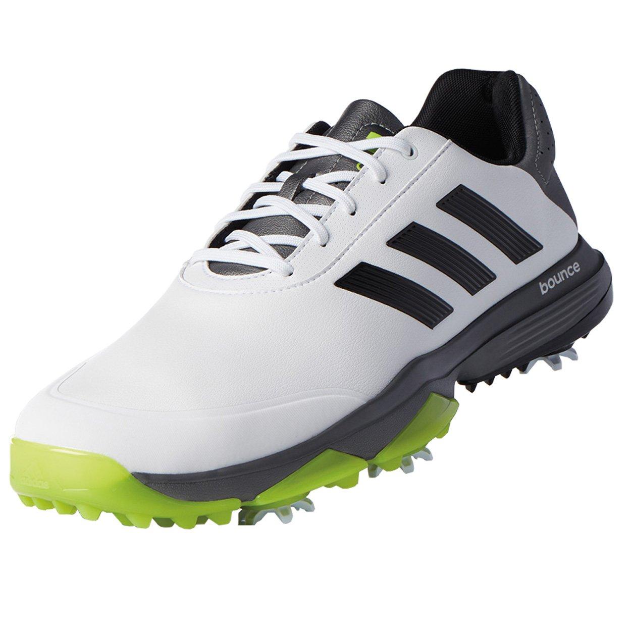 adidas Men's Adipower Bounce Golf Shoe, White/Black/Solar Slime, 13 M US