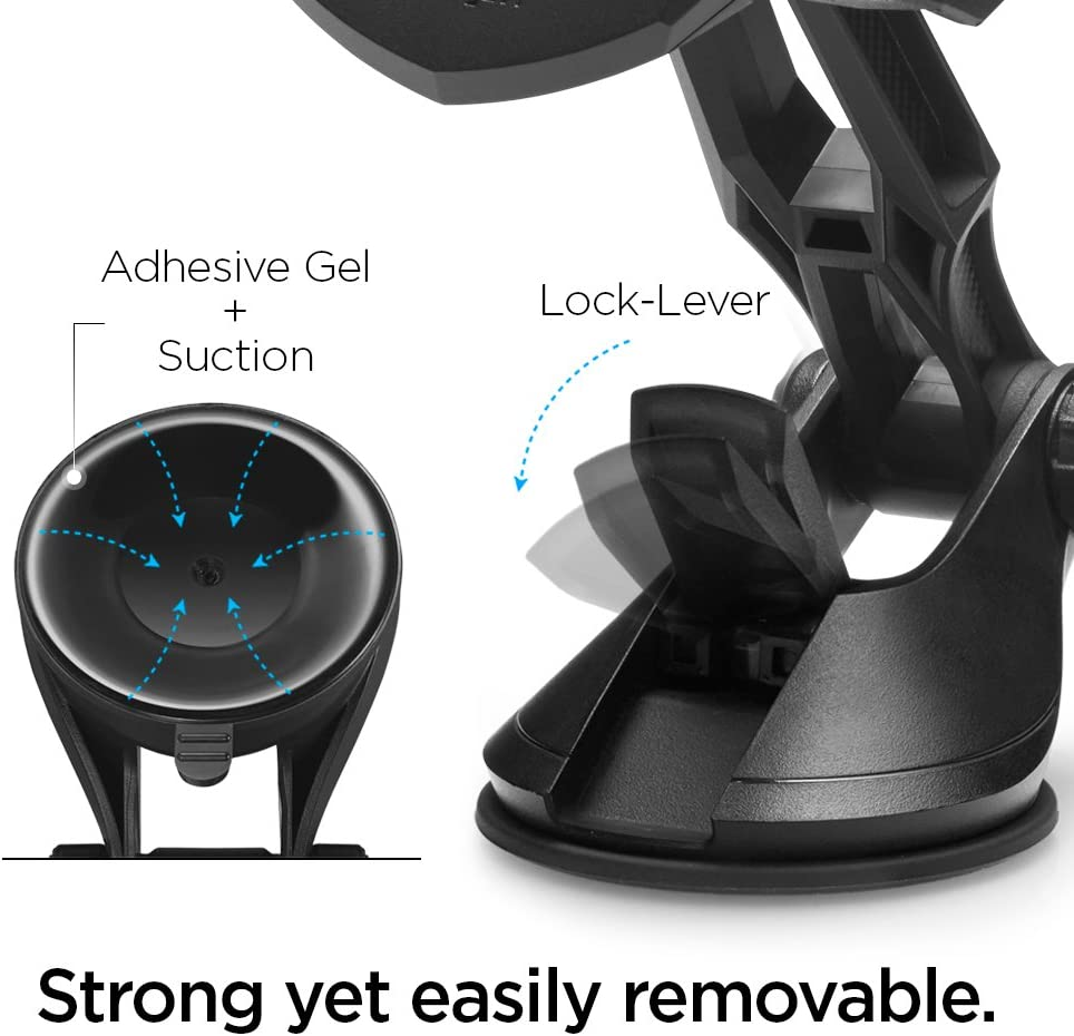 Spigen Kuel OneTap TS36 Car Phone Mount Universal Car Phone Holder With OneTap Technology /& Low Profile Design Compatible with Most Smartphones