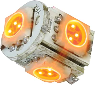 GG Grand General 74910 Light Bulb 194//168 Amber 5-LED Tower Style, 12V, Pair
