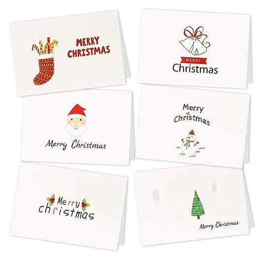 HOWAF 36pcs Navidad Tarjetas de Felicitación con Sobres ...