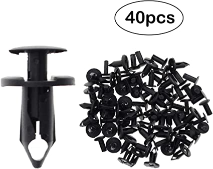 100 PIECES ATV Retainer Clips 8mm Push Pin Splash Guard Body Panel Fit Polaris