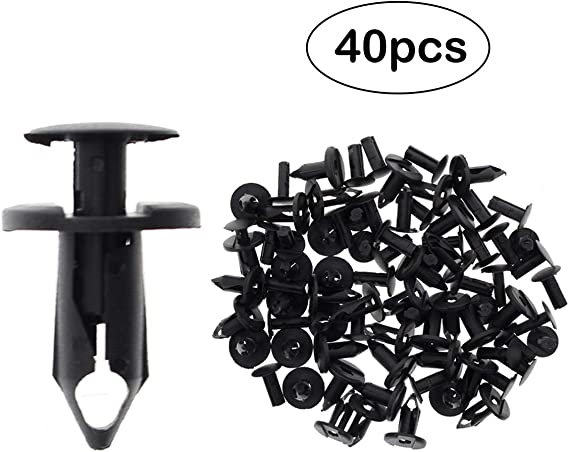 Fydun Rivet Clips Push Type Hood Bumper Mud Guard Liner Fastener Retainer Clips Trim Panel Replaces Auto Body Clips for Toyota 90467-07166 One Hundred