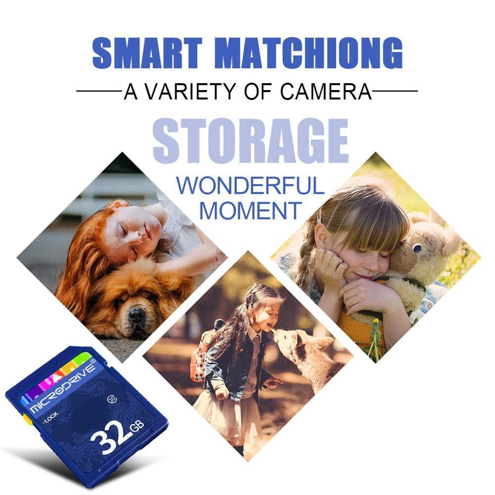 Carte m/émoire microSD Haute Vitesse avec m/émoire Flash microSDHC Classe 10 num/érique 32 Go