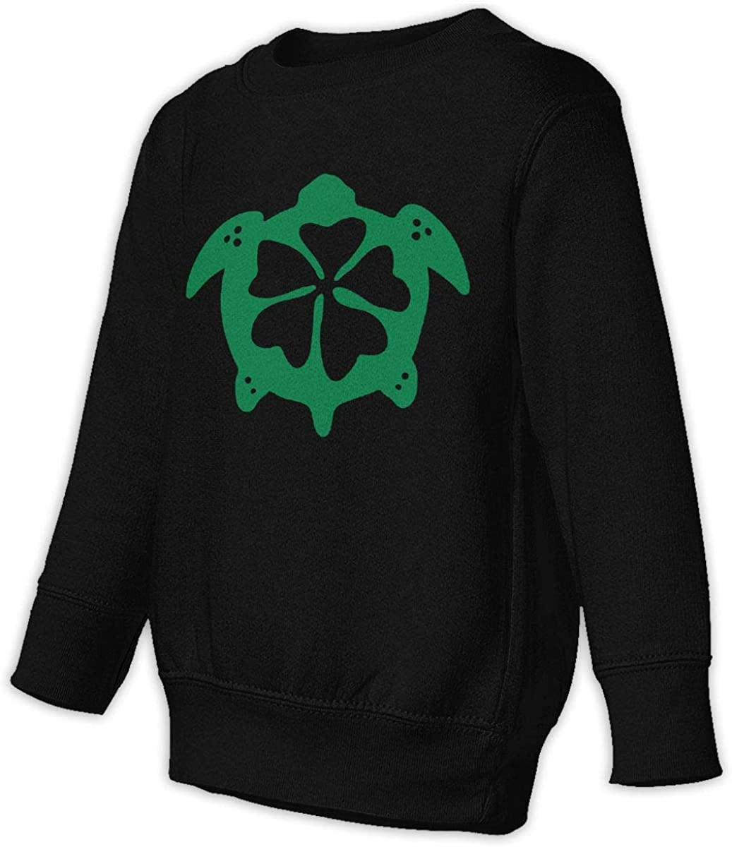Flower Sea Turtle Hawaii Boys Girls Pullover Sweaters Crewneck Sweatshirts Clothes for 2-6 Years Old Children