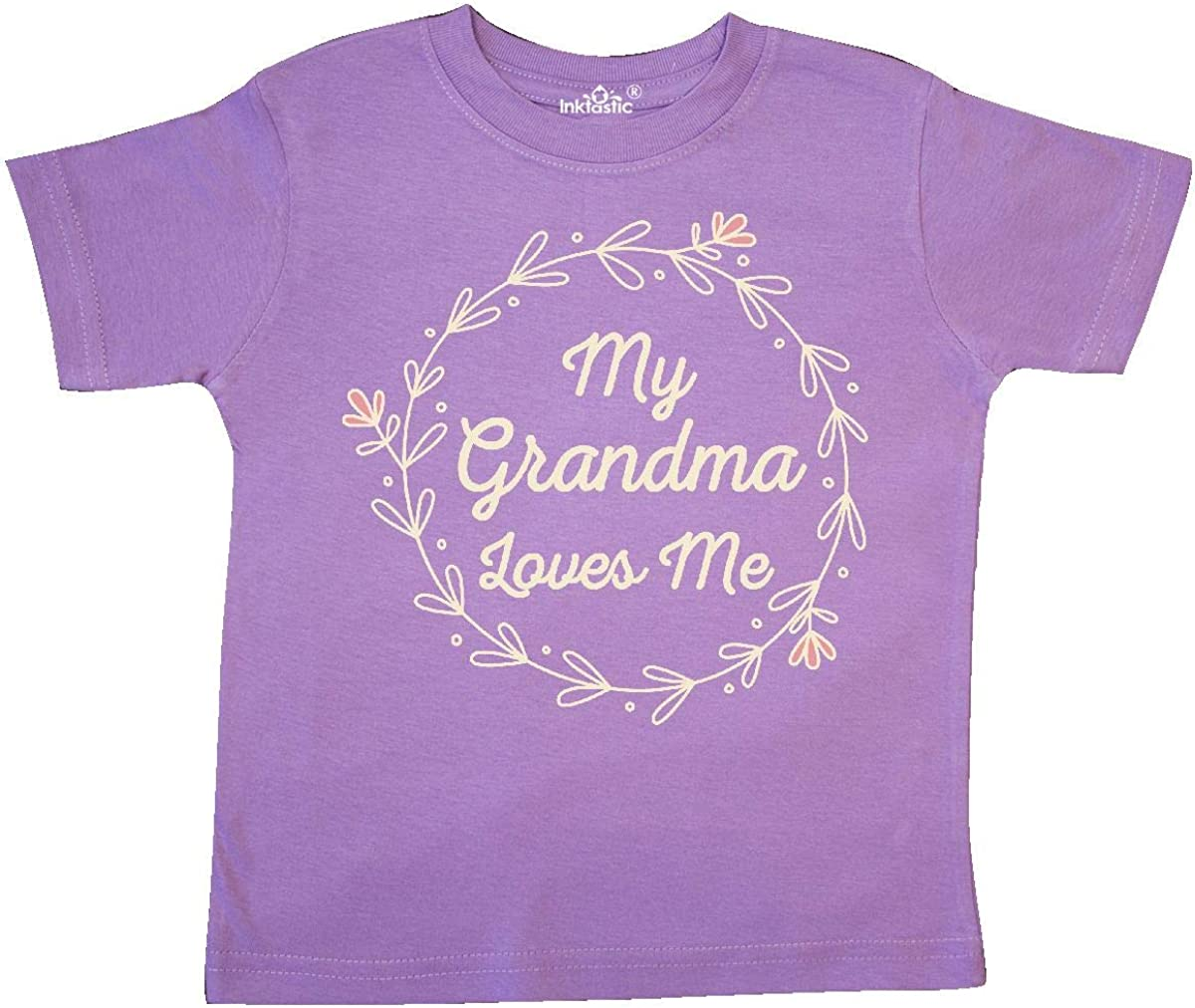 inktastic My Grandma Loves Me Grandchild Toddler T-Shirt