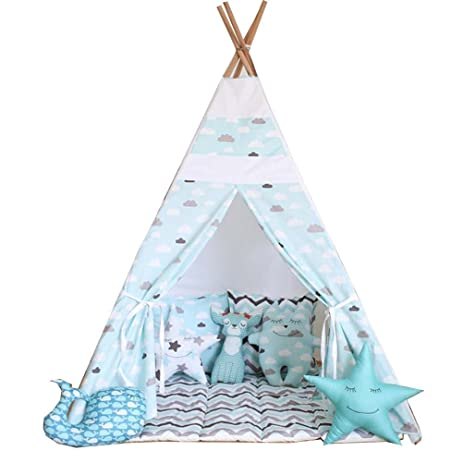 Free Love @blue cloud kids play tent indian teepee children playhouse children play room teepee  sc 1 st  Amazon.com & Amazon.com: Free Love @blue cloud kids play tent indian teepee ...
