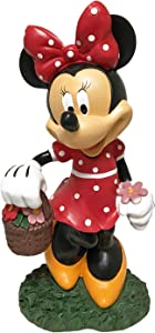 The Galway Company Disney Minnie Mouse Flower Pot Outdoor Garden Statue, Classic Disney Collection, Large 12 Inches Tall, Hand-Painted