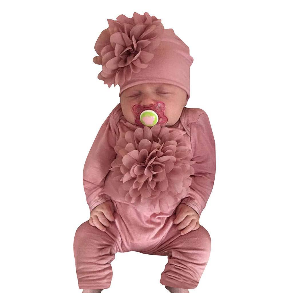 VICGREY Tutine per Neonati Cotone Pagliaccetto Neonata 0-24 Mesi Cappello Vestiti Completo Abiti Set Divertenti Tutine Neonato Tutina Jumpsuit Pigiama Pagliaccetti Tute Romper Ragazze Ragazzi