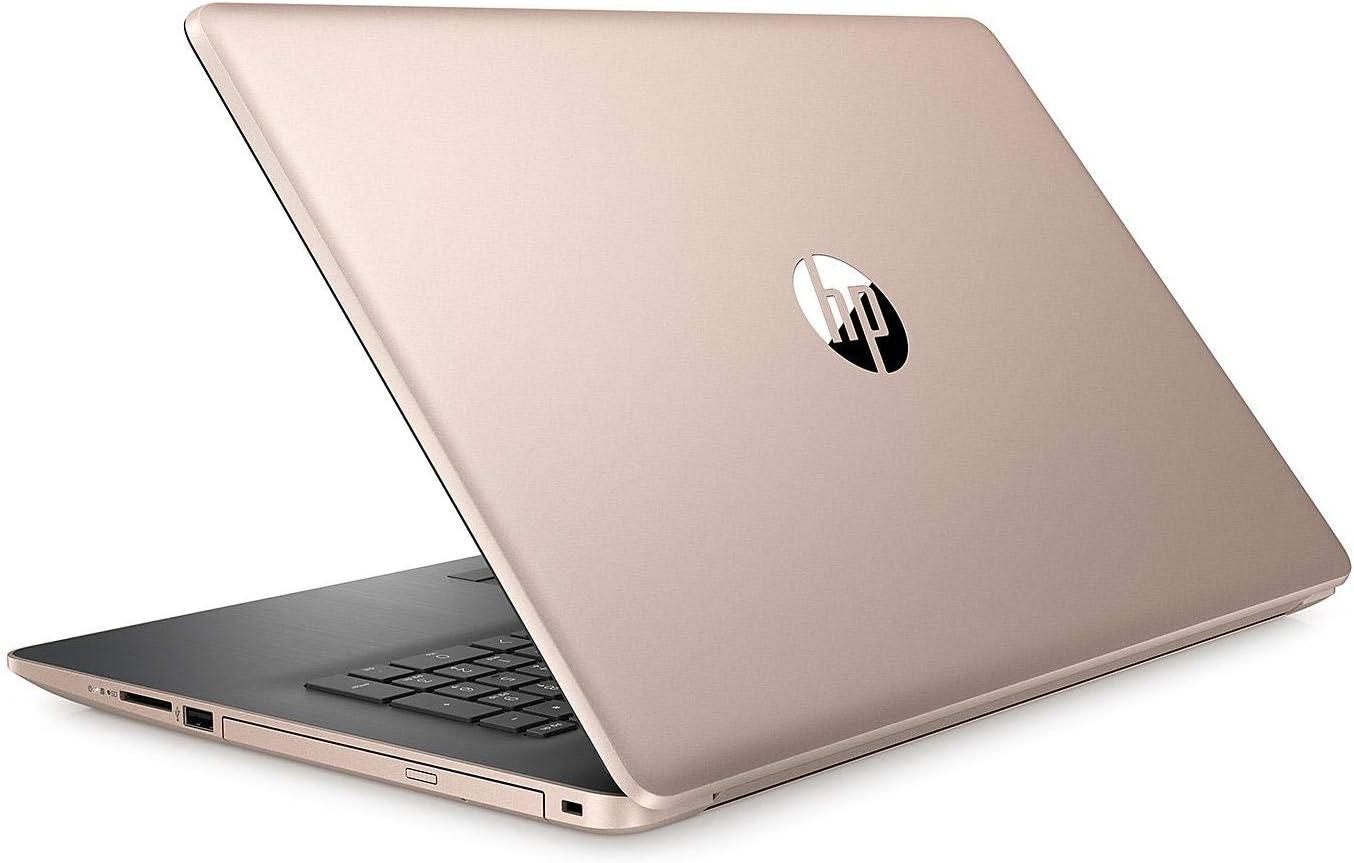 "Newest HP 17.3"" HD+ Touchscreen Flagship Business Laptop, Intel Quad-Core i5-8265U up to 3.9GHz, 8GB RAM, 256GB SSD, DVD-RW, 802_11_AC,HDMI, GbE LAN, Bluetooth, Windows 10, Pale Rose Gold"