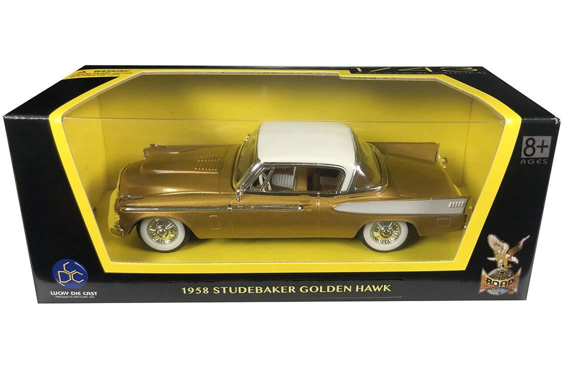 1958 STUDEBAKER GOLDEN HAWK GOLD 1//43 DIECAST MODEL CAR BY ROAD SIGNATURE 94254