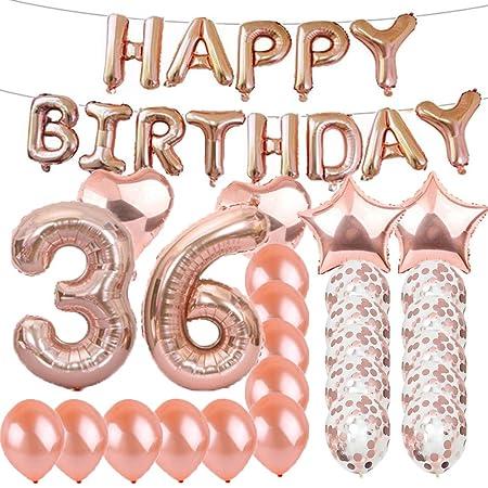 Globos de látex para fiesta de cumpleaños número 36 de oro ...