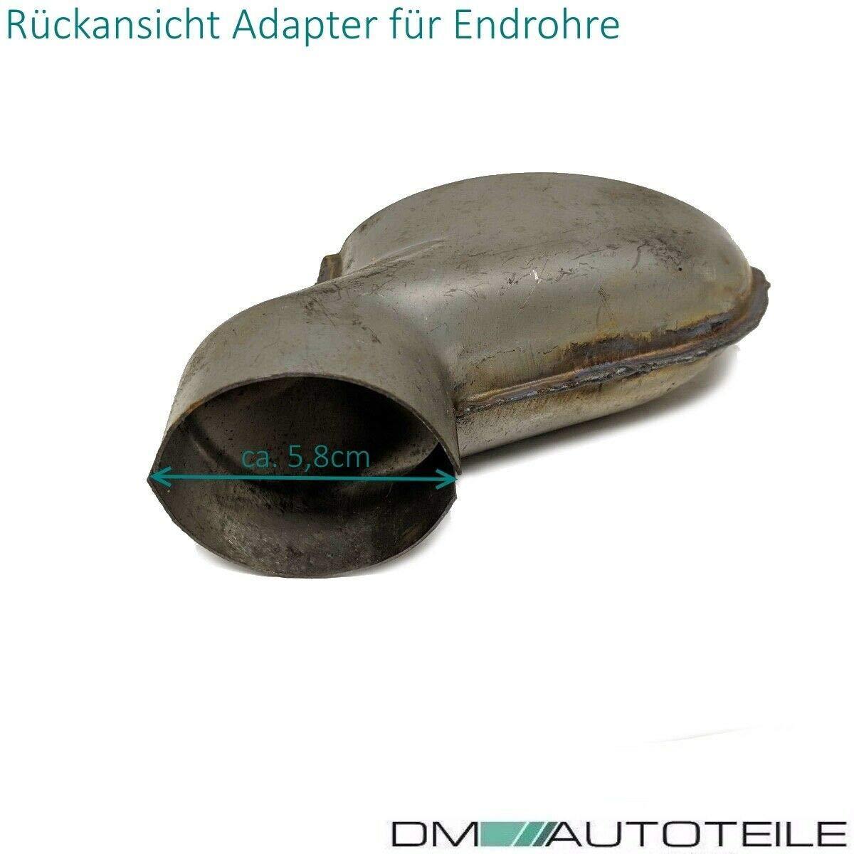 DM Autoteile Auspuffblenden SET Chrom Oval passt f/ür A6 C7 4G ab 2012-2019 nicht f/ür RS6
