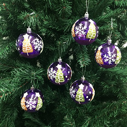 /Pack Shatterproof Christmas Ball Ornaments 70mm (2-3/4 Inch) -