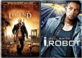 I, Robot (Widescreen Edition) [DVD] (2007) & I Am Legend (Widescreen Single-Disc Edition) Sci-Fi Will Smith DVD Movie Set