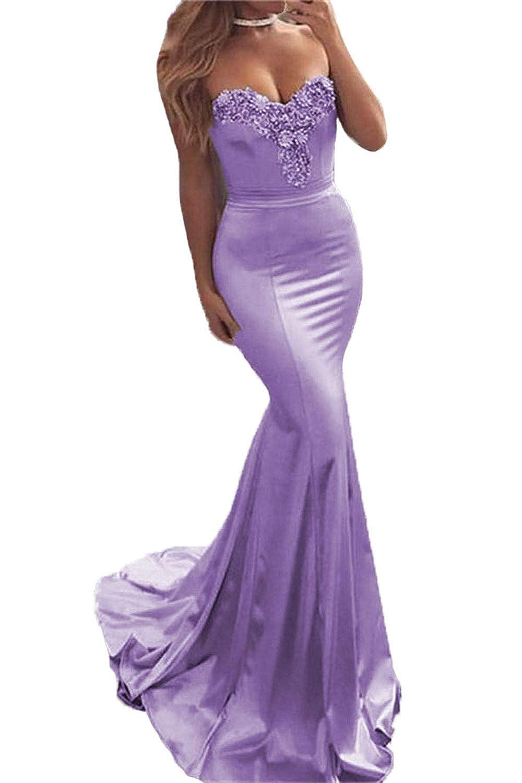 Purple Wanshaqin Women's Sexy Deep V MermaidEvening Cocktail Dress Bridesmaid Gown for Wedding Party