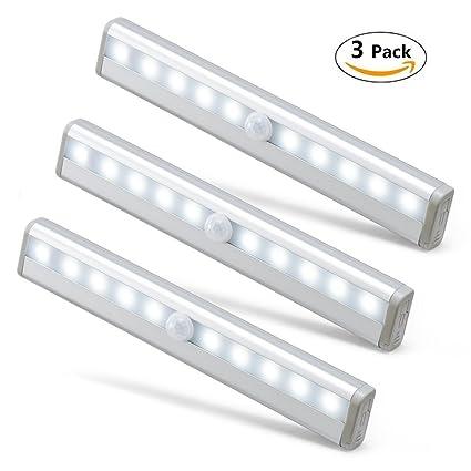 Piixy - Luces de sensor de movimiento, 10 LED, para bricolaje, en cualquier
