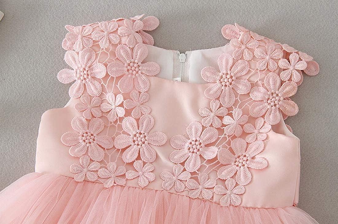 Lace Gowns Christening Hundred Days Party Princess Skirt Summer Girl Newborn Birthday Wedding Dresses