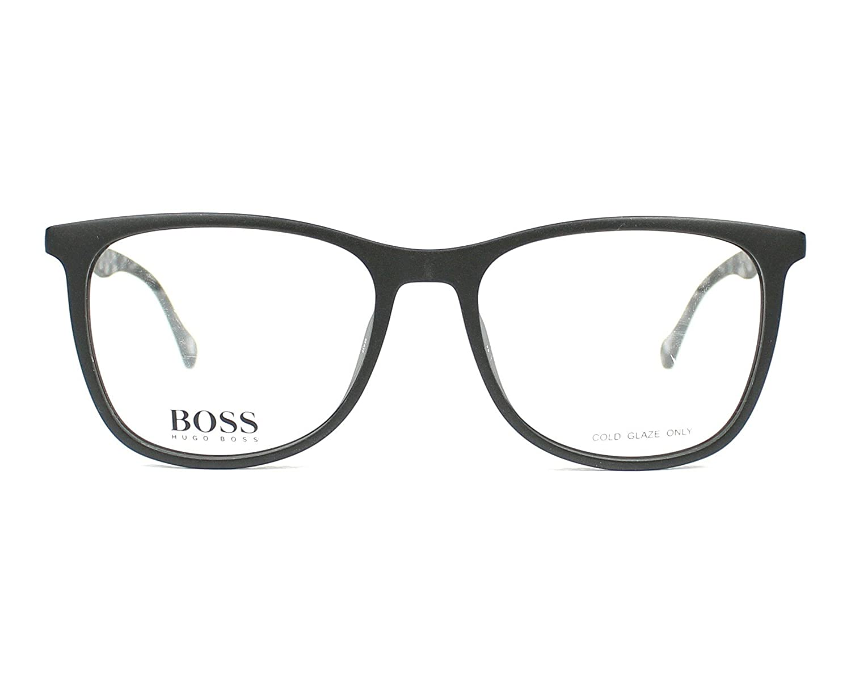 Plastic Matt Black BOSS-0825 YV4 Hugo Boss frame Havana