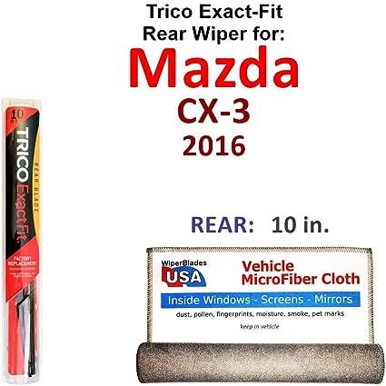 Amazon Com Rear Wiper Blade For 2016 Mazda Cx 3 Trico Exact Fit