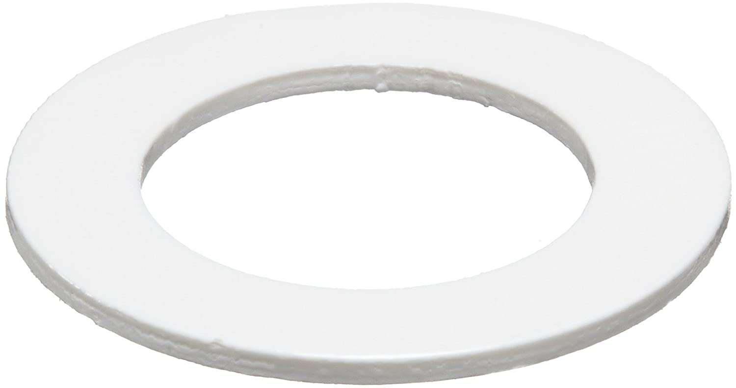 5//8 ID White 0.025 Thickness PVC Pack of 10 Round Shim Polyvinyl Chloride 1 OD