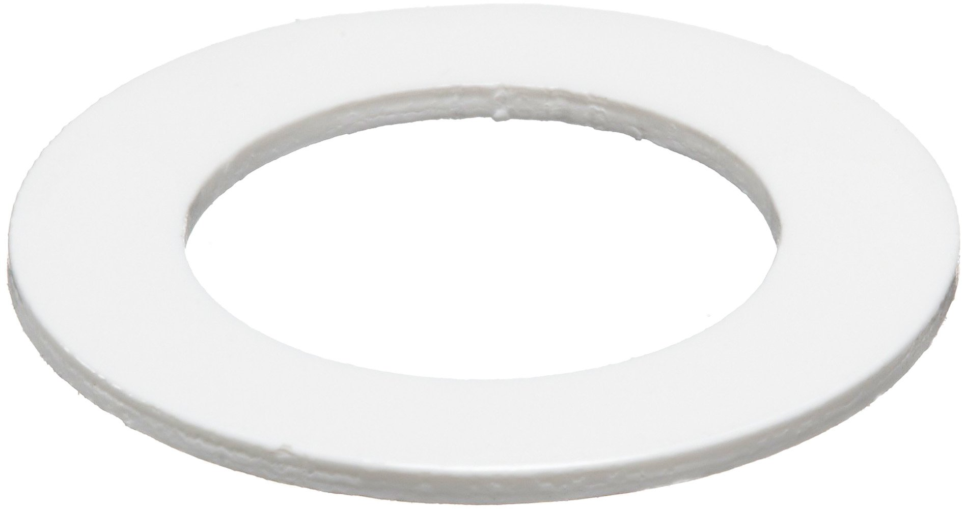 PVC (Polyvinyl Chloride) Round Shim, White, 0.025'' Thickness, 5/8'' ID, 1'' OD (Pack of 10) by Small Parts