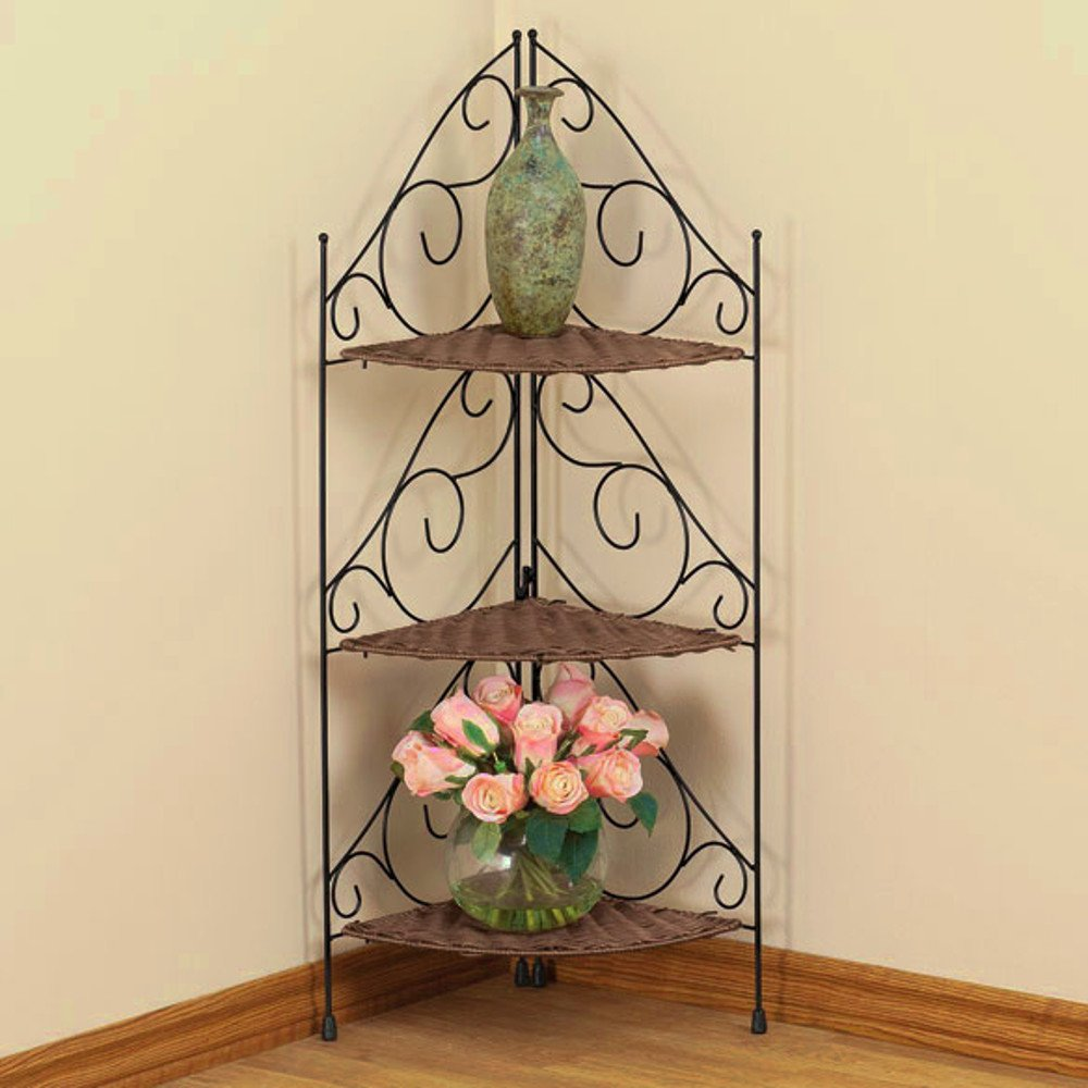 Metal Tiered Plant Stand Planter Corner Rack Rustic Unique Multiple Plants Pot Rack Indoor Furniture & E book By Easy2Find