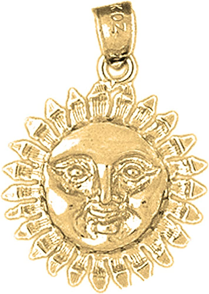 Rhodium-plated 925 Silver Sun Pendant with 18 Necklace Jewels Obsession Sun Necklace