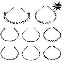 8 piezas Spring Wave diadema para el cabello Aro para hombres y mujeres Unisex metal ondulado peine