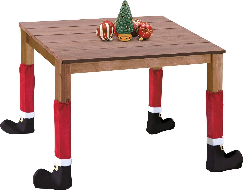4 St/ück im Set MIJOMA Lustige Weihnachts-Deko f/ür Stuhlbeine /& Tischbeine Tischbein-Bez/üge Stuhlsocken