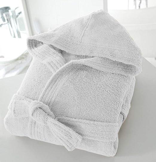 Casabella – Albornoz de tejido de rizo con capucha unisex (100 ...