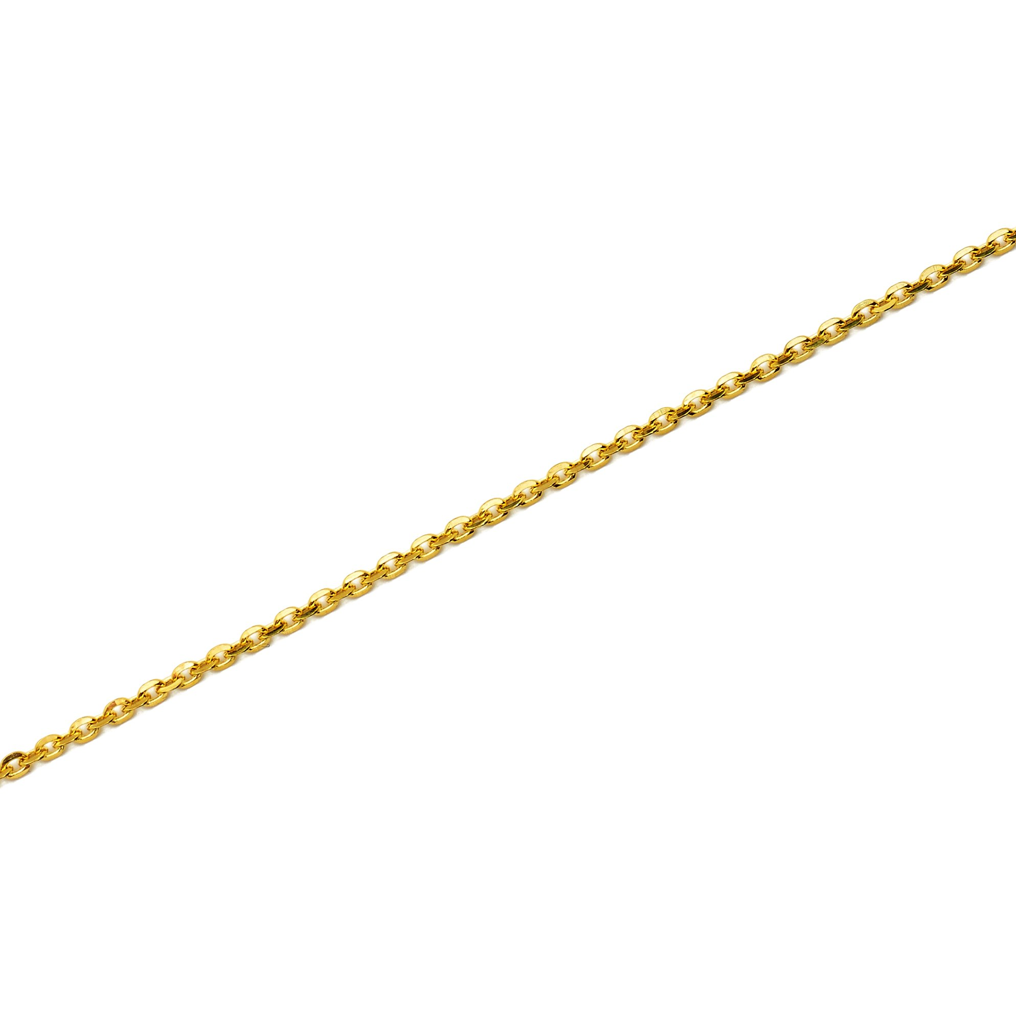 LOVEBLING 10k Yellow Gold Mirror Rolo 040 (1.25mm) High Polished Chain Necklace w/Spring Lock (Available in 16'' 18'' 20'') (20)