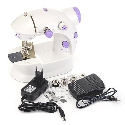 Bluelover Mini Máquina De Coser Eléctrica Casera Portátil Del Trabajo Hecho A Mano Con La Luz