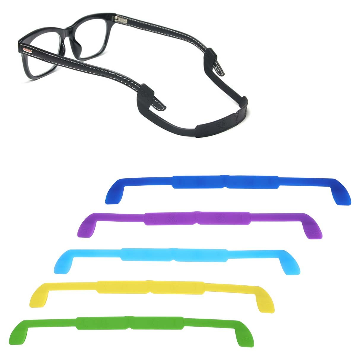 12 Pack Glasses Strap Eyewear Retainer Eyeglass Cord Holder Anti slip for Kid for 12 Colors