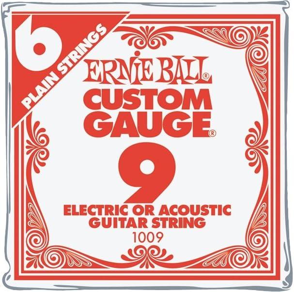 B0002D0L5E Ernie Ball Nickel Plain Single Guitar String .009 6-Pack 61JSpcidW4L