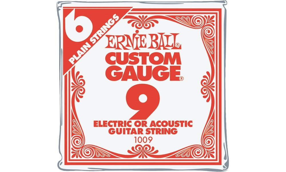 Amazon Ernie Ball Nickel Plain Single Guitar String 009 6 Pack