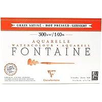 Papel Para Aquarela Fontaine 300g, Clairefontaine, Branco, 12x18cm