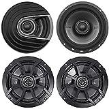 (2) Polk Audio MM652 6.5 600 Watt Car Audio Speakers+(2) Kicker 6.5 Speakers