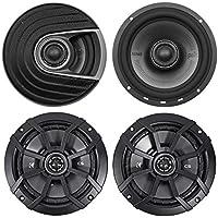 """(2) Polk Audio MM652 6.5"""" 600 Watt Car Audio Speakers+(2) Kicker 6.5 Speakers"""