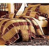 7 Piece Maroon Jewel Patchwork Cal King Comforter Set