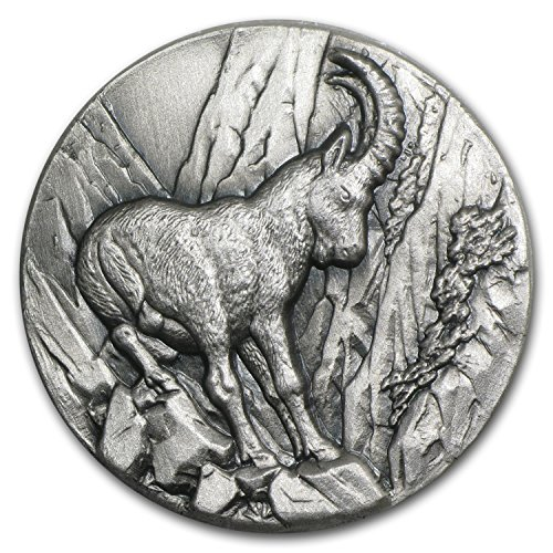 1 Ounce Swiss (2014 CH Niue 1 oz Silver Swiss Wildlife High Relief Capricorn 1 OZ Uncirculated)