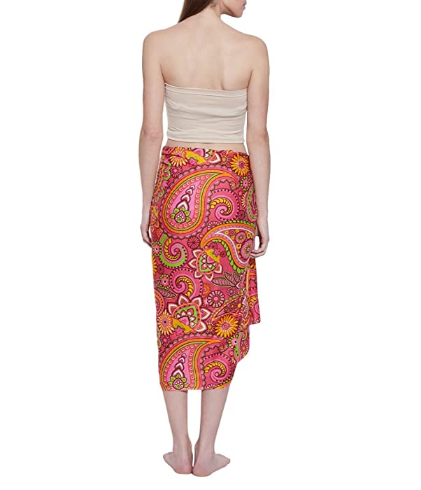 9bf9046b0eb6e Amazon.com: Sarong Wrap Swimwear Cover Ups for Women, Designer ...