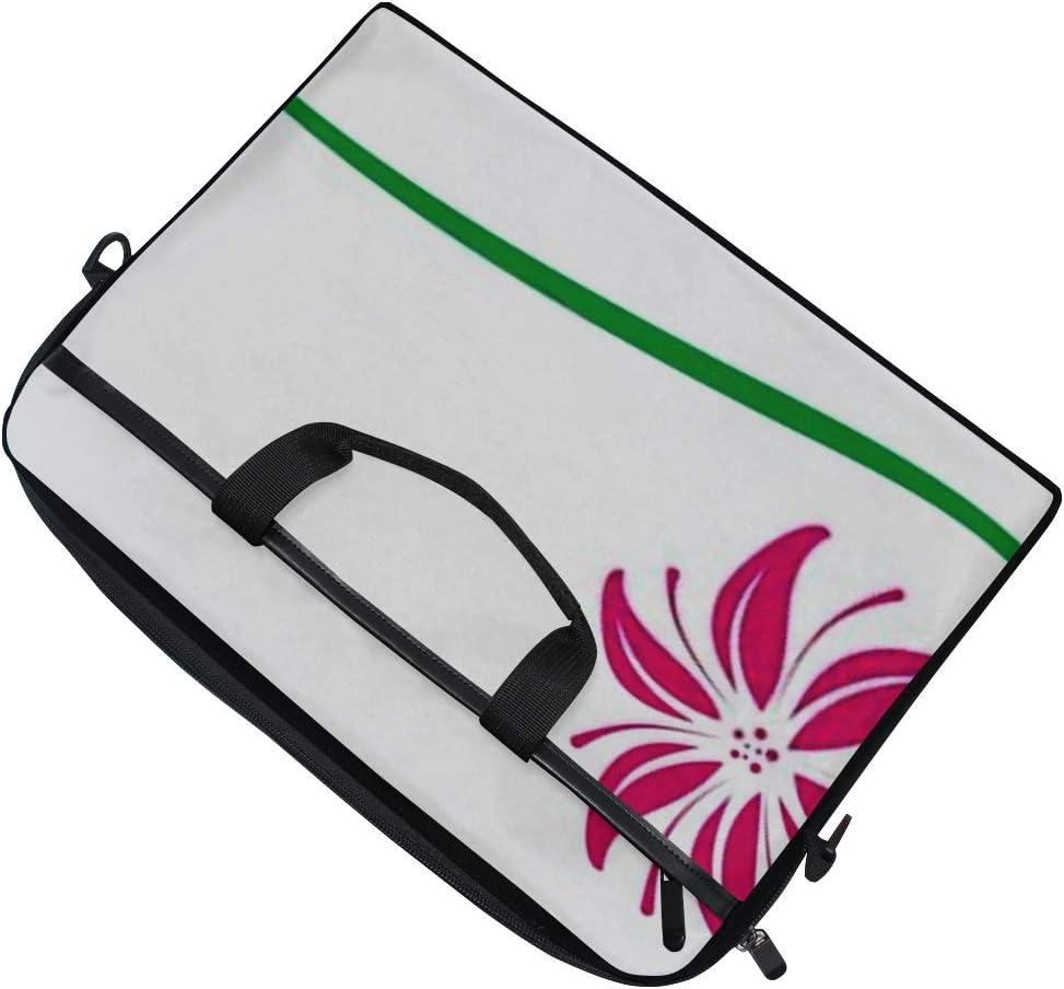 College Students Business People Office Workers Briefcase Messenger Shoulder Bag for Men Women Laptop Bag Lily Logo 15-15.4 Inch Laptop Case