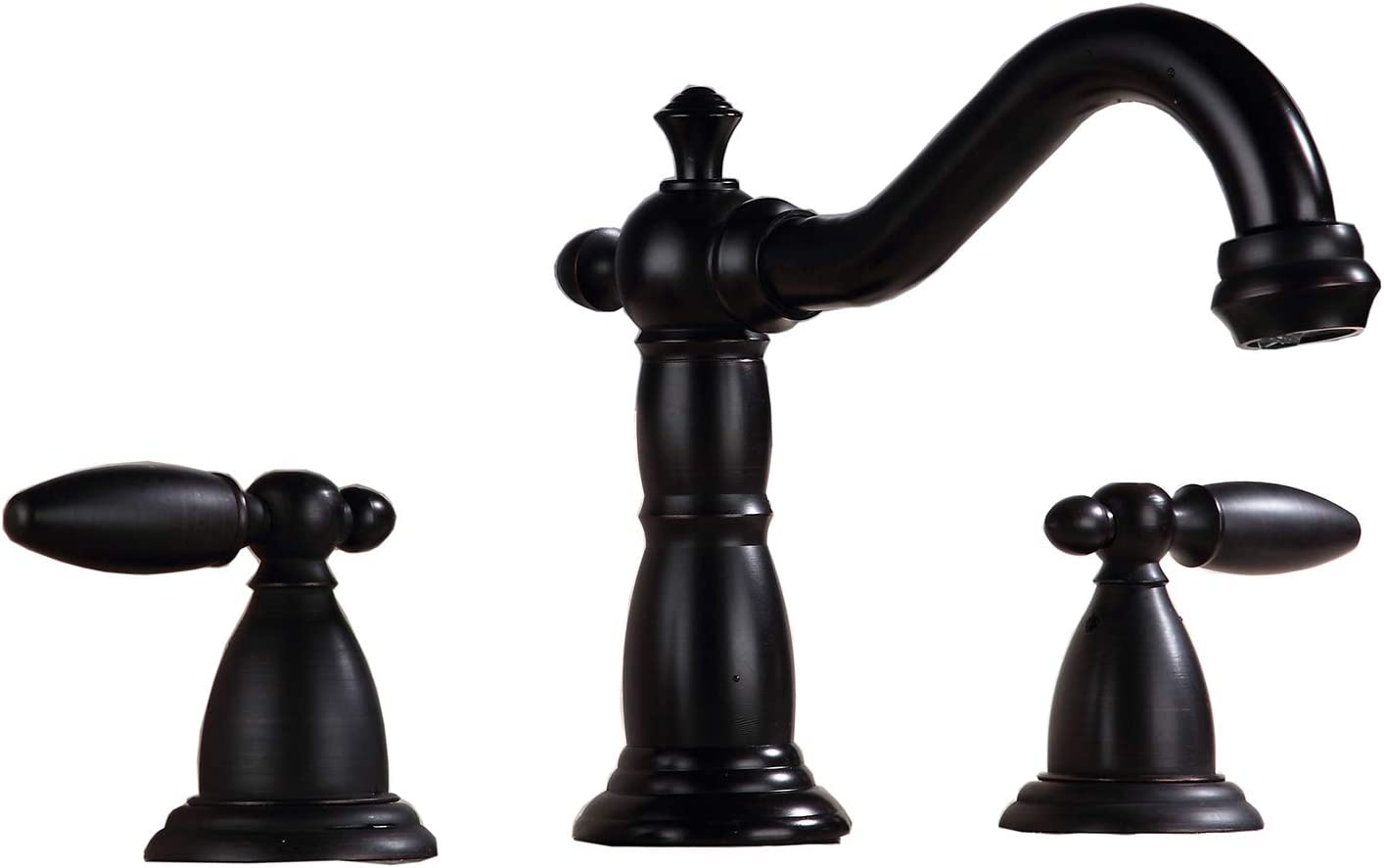 GGStudy Oil Rubbed Bronze Two Handles 3 Holes 8-16 inch Widespread Bathroom Sink Faucet