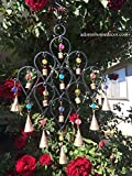 Iron Drop Windchime Bells Bead Recycled Metal Rustic Garden Decor Indoor Outdoor