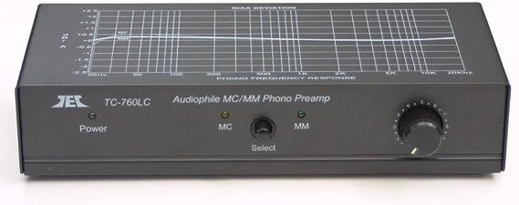 TCC TC-760LC BLACK MM/MC Phono Preamp w/Level Control; includes optional PREMIUM HIGH POWER AC Adaptor