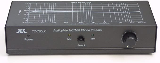 Technolink TC-750 RIAA Moving Magnet MM Phono Preamp; Black finish version!